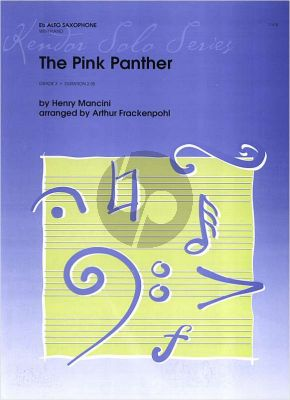 Mancini The Pink Panther Alto Saxophone-Piano (transcr. by Arthur Frackenpohl)