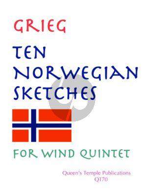 Grieg 10 Norwegian Sketches Woodwind Quintet (Score/Parts)