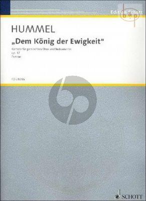 Dem Konig der Ewigkeit (Kantate) Op.71 (SATB- 2 Ob.- 2 Bns.-Trp.-Trb.-D.Bass)