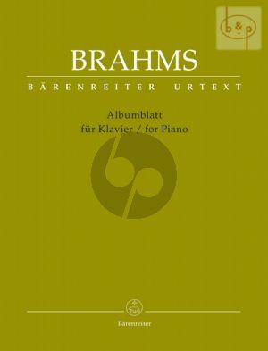Brahms Albumblatt for Piano (edited by Chr.Hogwood)