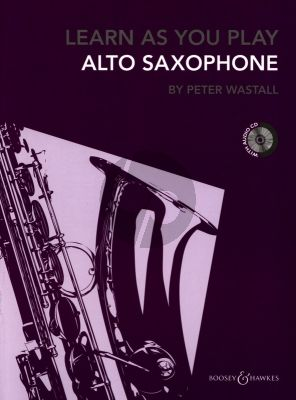 Wastall Learn as you Play Alto Saxophone Book with Cd