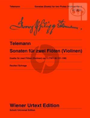 6 Sonaten Op.2 TWV 40:101 - 106 2 Flutes(Violins)