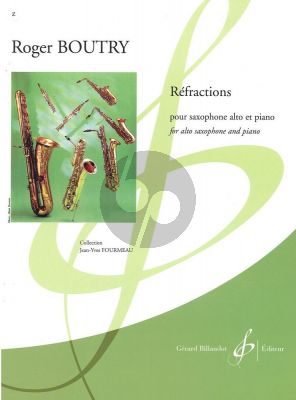 Boutry Refractions Saxophone alto et Piano (adv.level) (grade 9)