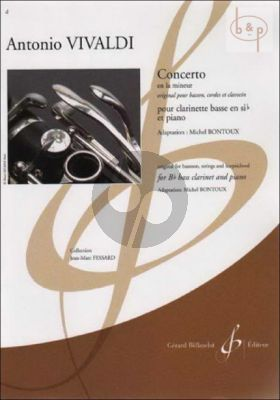 Concerto a-minor (orig. Bassoon) (arr. Bass Clar.) (Part. in TC and BC) (adv.level)