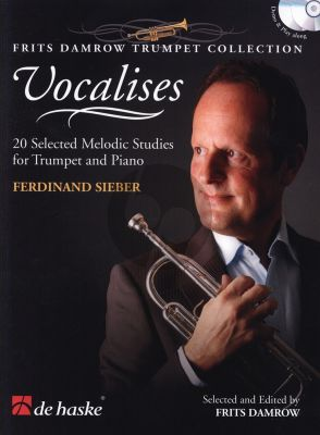 Sieber Vocalises for Trumpet (20 Selected Melodic Studies) (Bk-Cd) (edited by Frits Damrow)