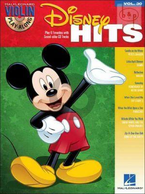 Disney Hits (Violin Play-Along Vol.30) (Bk-Cd)