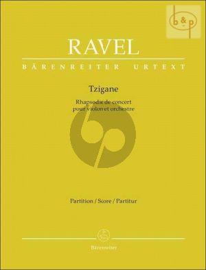 Tzigane (Rhapsodie de Concert) (Violin-Orch.) (Full Score)