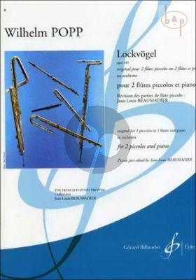 Lockvogel Op.449 (2 Piccolos[Flutes]-Piano) (Score/Parts)
