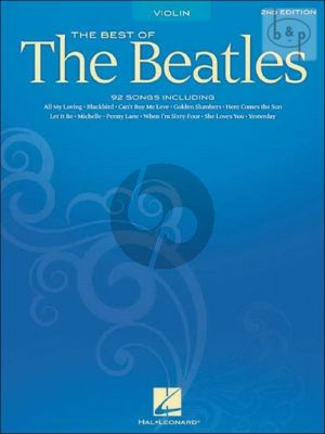 Best of the Beatles for Violin solo