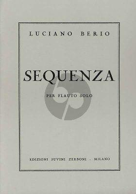 Berio Sequenza Flute solo (1958) (Zerboni)