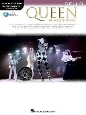 Queen 17 Songs Instrumental Play-Along for Cello (updated edition) (Book with Audio online)
