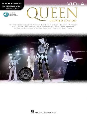Queen 17 Songs Instrumental Play-Along for Viola (updated edition) (Book with Audio online)