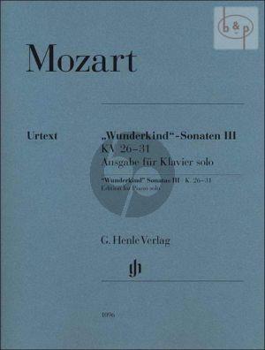 Mozart Wunderkind Sonaten Vol. 3 KV 26 - 31 Piano Solo Version (edited by Wolf-Dieter Seiffert) (Henle-Urtext)