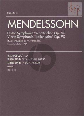 "Symphonie No.3 Op.56 ""Schottische"" und Symphonie No.4 Op.90 ""Italienische"""