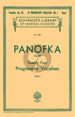 Panofka 24 Progressive Vocalises Op.85 Vol.1