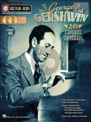 Gershwin 20 Favorite Standards (Jazz Play-Along Series Vol.45)