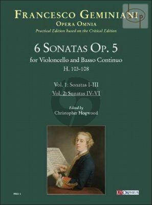 6 Sonatas Op.5 Vol.2 Sonatas No.4 - 6 (H.106 - 108)