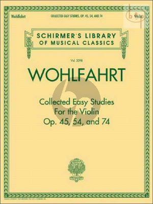 Collected Easy Studies Op.45 -Op.54 and Op.74 Violin