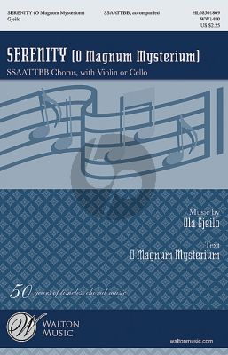 Gjeilo Serenity (O Magnum Mysterium) SSAATTBB (with Violin or Cello)