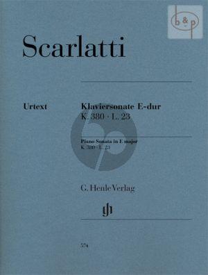 Sonata E-major K.380 /L.23 Harpsichord