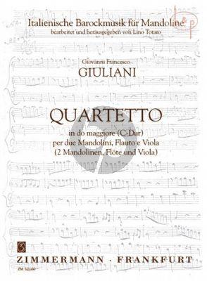 Quartetto A-major (2 Mandolins-Flute-Viola)