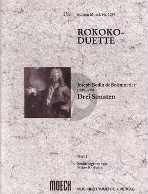 Boismortier Rokoko Duette Vol. 1 3 Sonaten 2 Violoncellos (Heinz Edelstein)