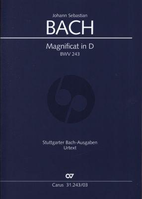 Bach Magnificat D-dur BWV 243 Soli SSATB, Coro SSATB Klavierauszug