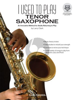 Clark I Used to Play Tenor Saxophone (An Innovative Method for Adults returning to Play) (Book with Audio online)
