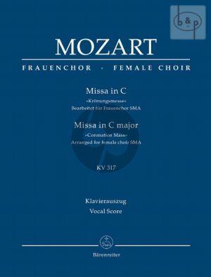 Kronungsmesse C-major KV 317 (arr.for female choir) (Vocal Score)