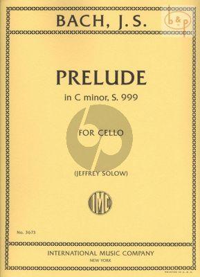 Prelude c-minor BWV 999