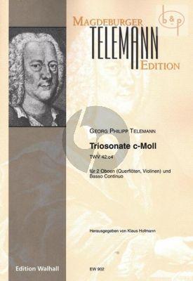 Triosonate c-moll TWV 42:c4 (2 Ob.[Fl./Vi.]-Bc)