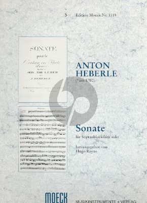 Heberle Sonate (1808) Sopranblockfl. allein