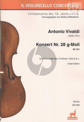Concerto No.28 g-minor RV 531 (2 Violonc.solo- 2 Vi.-Va.-Bc)