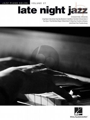 Late Night Jazz Piano Solos