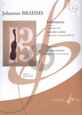 Intermezzo Op.117 No.1 (transcr. Claude Ducrocq)