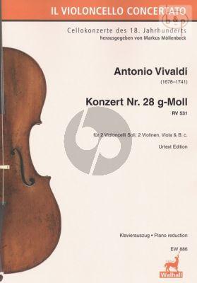Concerto No.28 g-minor 531 (2 Vc.solo- 2 Vi.- Va.-Bc)