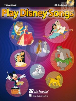 Play Disney Songs for Trombone -BC (Bk-Cd) (arr. Jaap Kastelein)