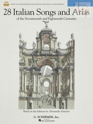 28 Italian Songs and Arias of the 17th. and 18th. Centuries Medium Voice Book with Audio online (based on the editions of A.Parisotti) (edited by Richard Walters)