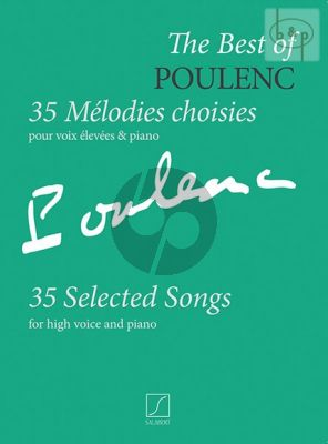 Poulenc 35 Melodies Choisies High Voice and Piano (35 Selected Songs)