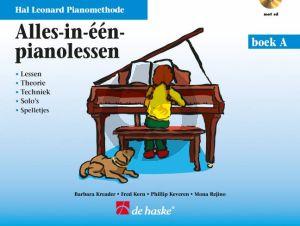 Piano Methode Alles in één Pianolessen Boek A (Lessen-Theorie-Techniek-Solo's en Spelletjes) (Bk-Cd) (Kreader-Kern-Keveren & Rejino)
