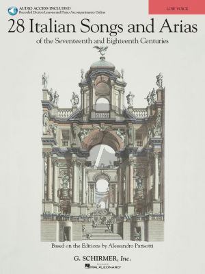 28 Italian Songs and Arias of the 17th. and 18th. Centuries Low Voice (Book with Audio online) (based on the editions of A. Parisotti) (R.Walters)