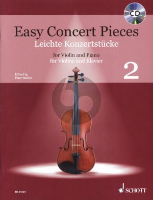 Easy Concert Pieces Vol.2 Violin and Piano (Bk-Cd) (edited by Peter Mohrs)