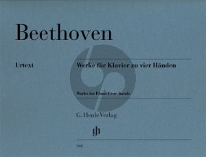 Beethoven Werke fur Klavier zu Vier Handen (Edited by Frank Buchstein & Hans Schmidt and fingering by A.Groethuysen)Henle-Urtext) (Henle Urtext - Revised Edition)