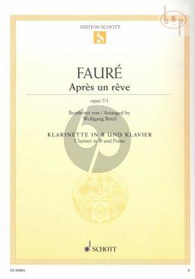 Apres un Reve Op.7 No.1 Clarinet BB - Piano