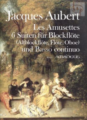 Les Amusettes Op.14 (6 Suites) (Treble Rec. [Flute/Oboe]-Bc)