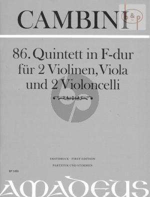 Quintet No.86 F-major (2 Vi.-Va.- 2 Vc.) (Score/Parts)