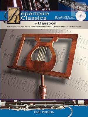 Repertoire Classics for Bassoon (37 Recital Pieces) (Bk-Cd)