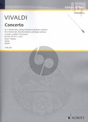 Concerto g-minor RV 531 (PV 411 /F.III/ 2) 2 Violoncellos-String Orch.-Bc
