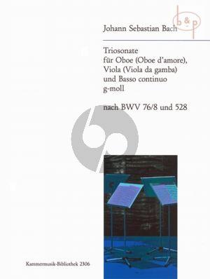 Triosonate g-moll nach BWV 76 / 8 und 528 (Oboe[Oboe d'Amore]-Viola-Bc)