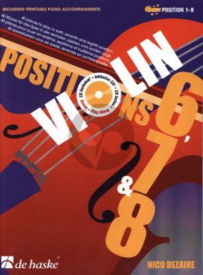 Dezaire Violin Positions 40 Speelstukken voor de 6e- 7e en 8e Positie (Bk- 2 CD's)